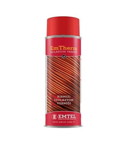 Emtel - Kırmızı Sprey İzolasyon verniği 400 ml