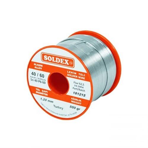 Soldex - Soldex 40/60 Kurşunlu Lehim Teli