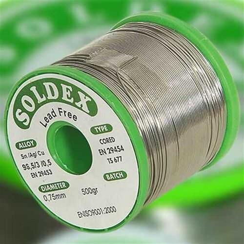 Soldex - Soldex Kurşunsuz Lehim Teli Sn96.5 Ag3 Cu0.5